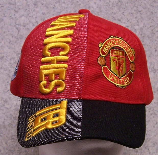 Manchester United Adjustable Size International Flag Soccer Football  Baseball Cap thumbnail