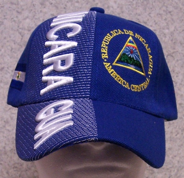 Nicaragua Adjustable Size International Flag Baseball Cap thumbnail