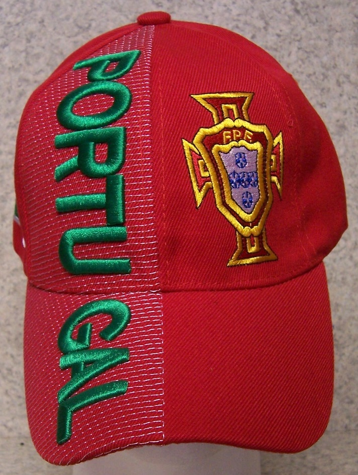 Portugal Adjustable Size International Flag Soccer Football Baseball Cap thumbnail