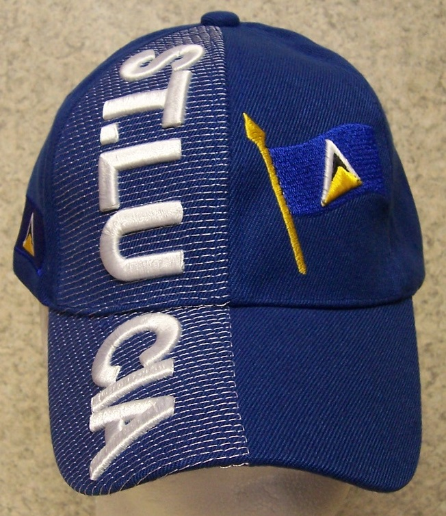 Saint Lucia Adjustable Size International Flag Baseball Cap thumbnail