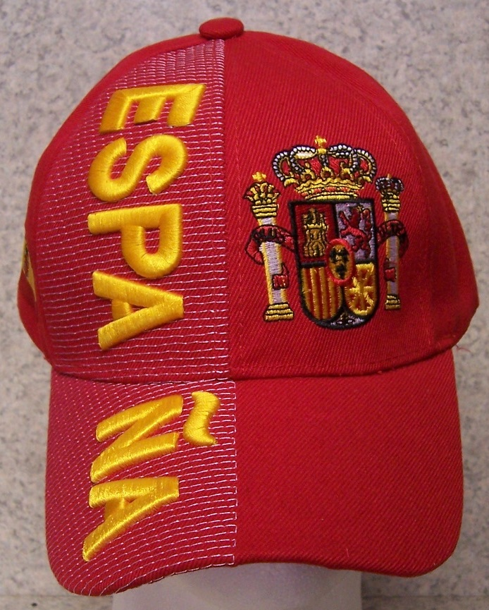 Spain Adjustable Size International Flag Baseball Cap thumbnail