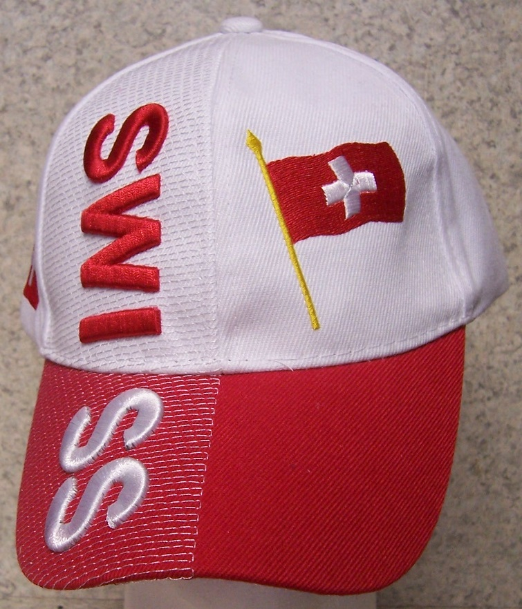 Switzerland Adjustable Size International Flag Baseball Cap thumbnail