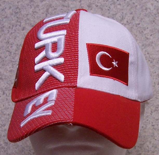 Turkey Adjustable Size International Flag Baseball Cap thumbnail