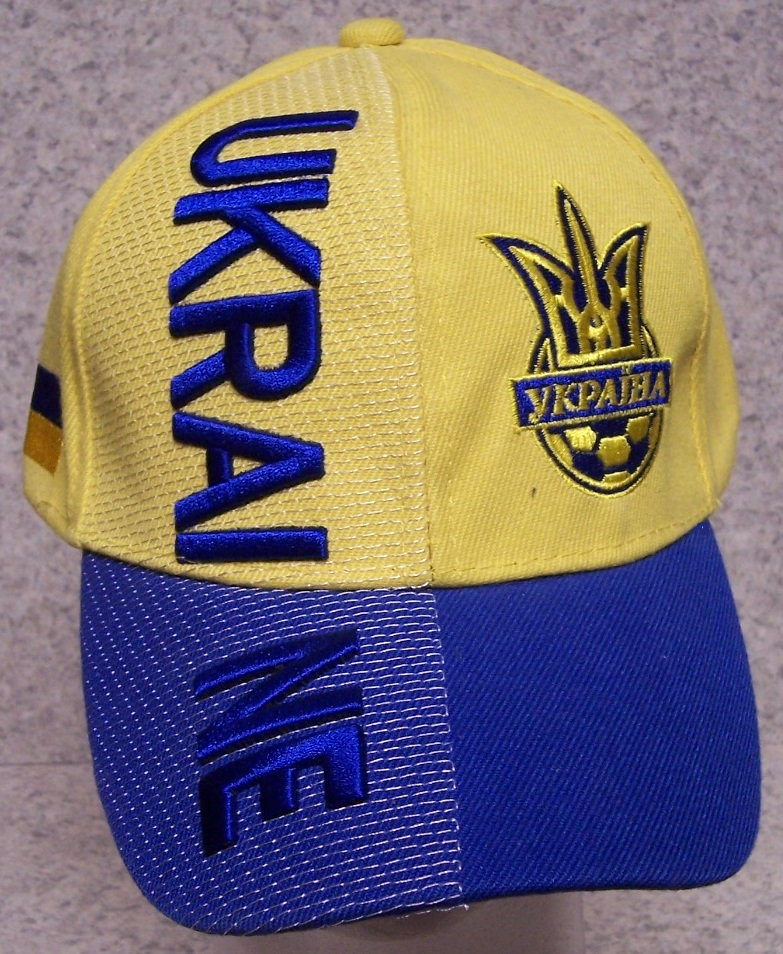 Ukraine Adjustable Size International European Football Baseball Cap thumbnail
