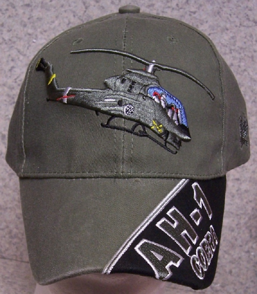 AH-1 Cobra Helicopter Adjustable Size Military Baseball Cap thumbnail