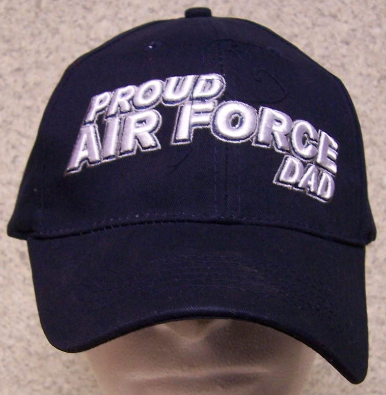 Air Force Dad Air Force Adjustable Size Military Baseball Cap thumbnail