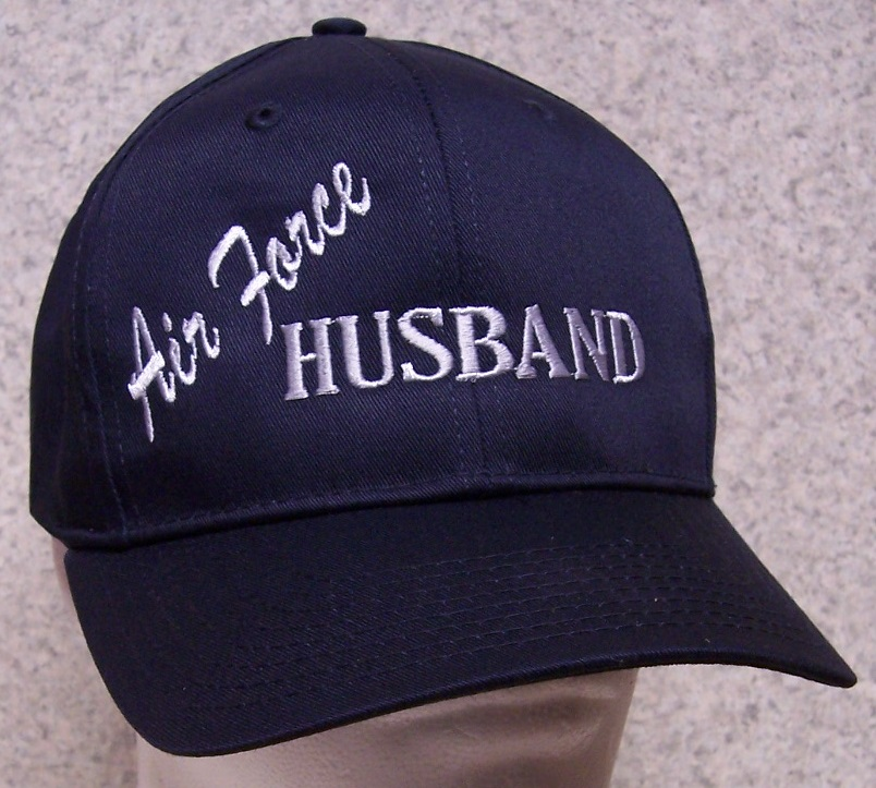 Air Force Husband Air Force Adjustable Size Military Baseball Cap thumbnail
