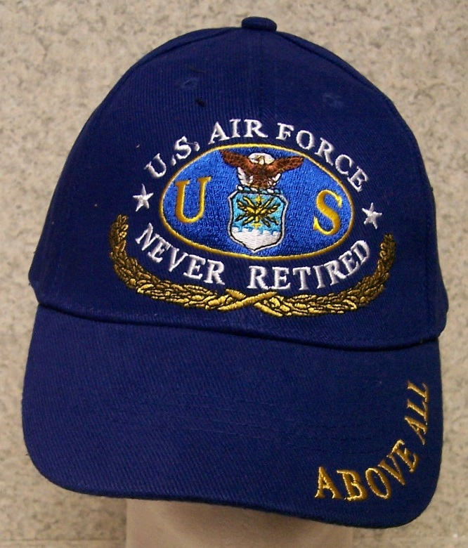 Air Force Never Retired Air Force Adjustable Size Military Baseball Cap thumbnail