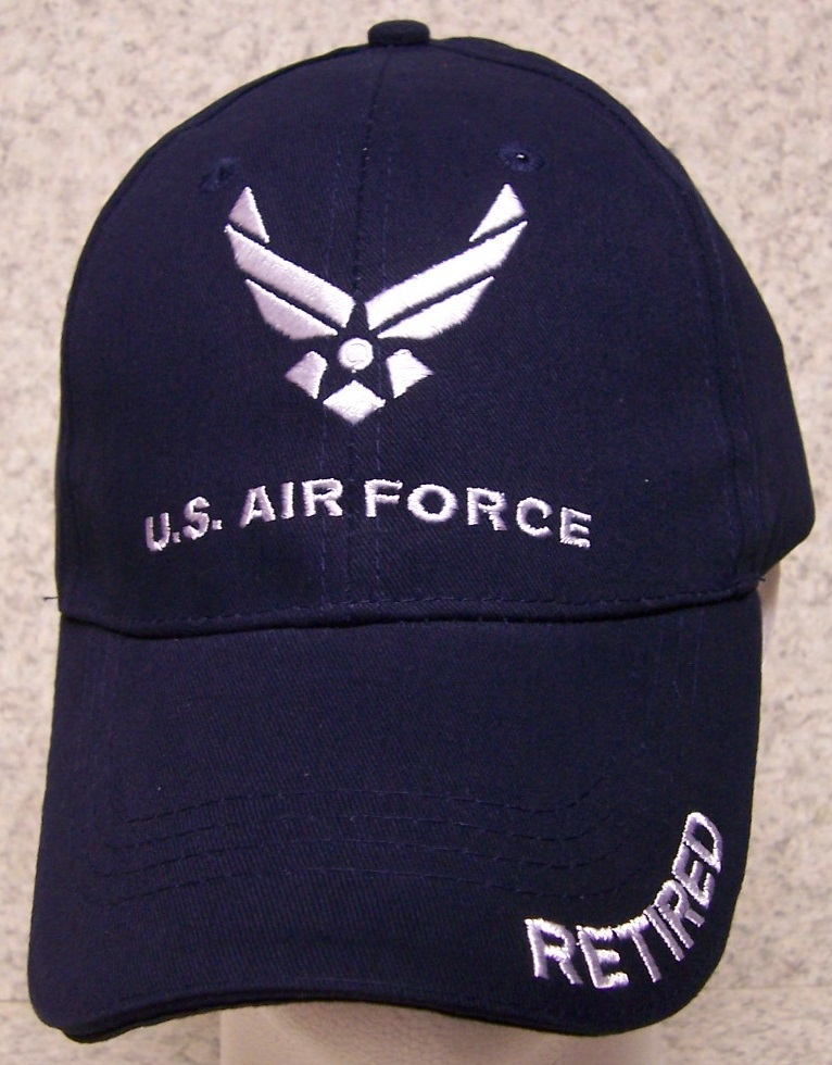 Air Force Retired Air Force Adjustable Size Military Baseball Cap thumbnail