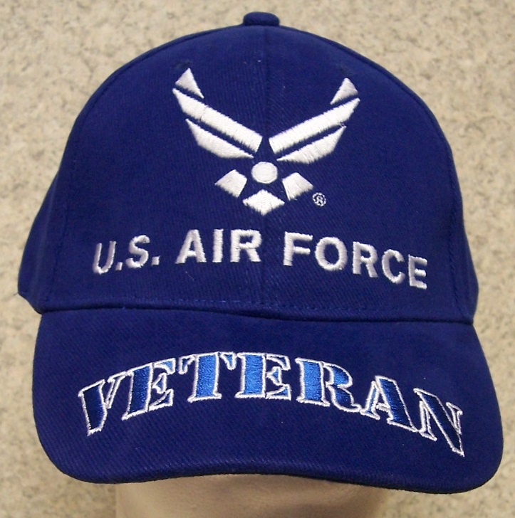 3630640ee4fdf Air Force Veteran Air Force Adjustable Size Military Baseball Cap thumbnail