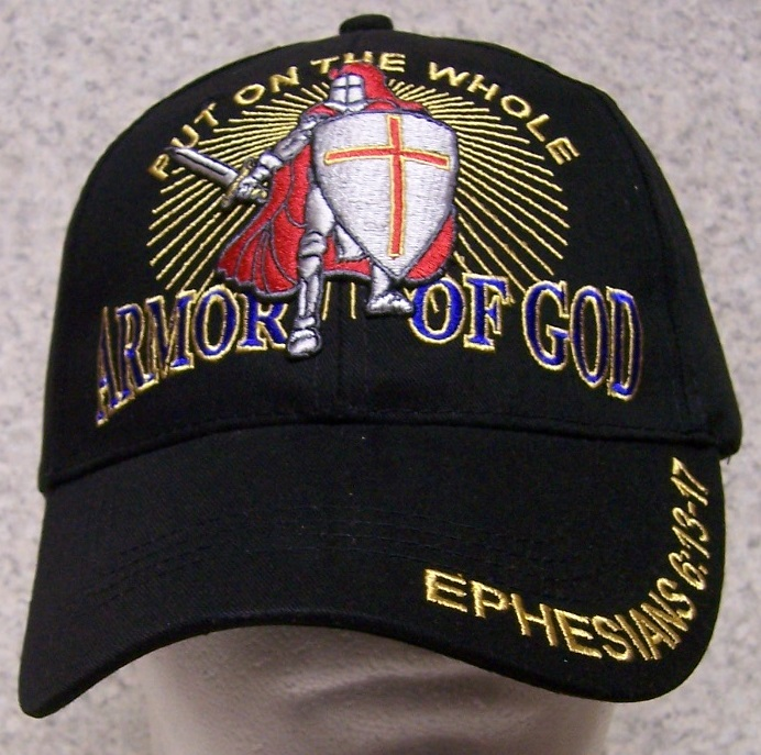 Put on the Whole Armor of God Religious Adjustable Size Baseball Cap thumbnail