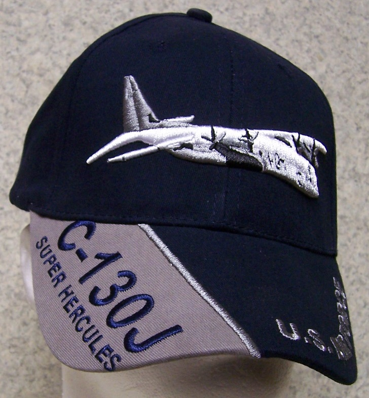 C-130J Super Hercules Adjustable Size Military Baseball Cap thumbnail