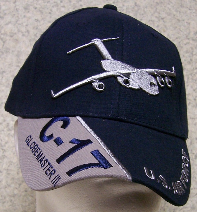 C-17 Globemaster III Adjustable Size Military Baseball Cap thumbnail