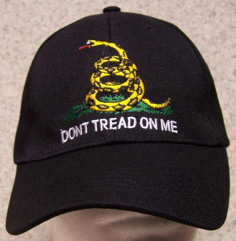 Don't Tread on Me Second Amendment Adjustable Size Baseball Cap thumbnail