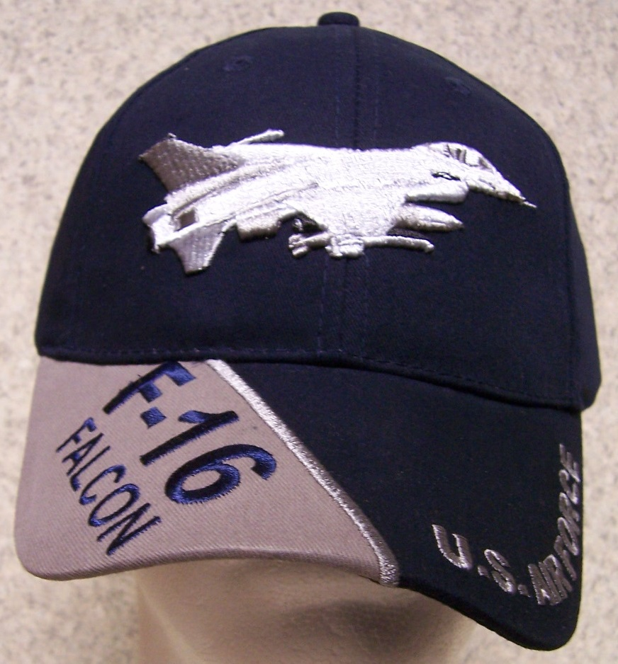 F-16 Falcon Adjustable Size Military Baseball Cap thumbnail