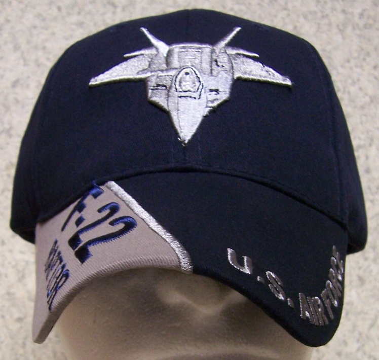 F-22 Raptor Adjustable Size Military Baseball Cap thumbnail