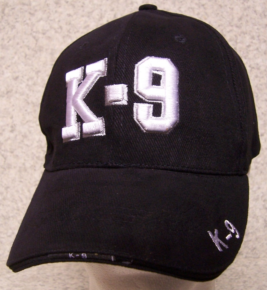 K-9 Adjustable Size Law Enforcement Baseball Cap thumbnail