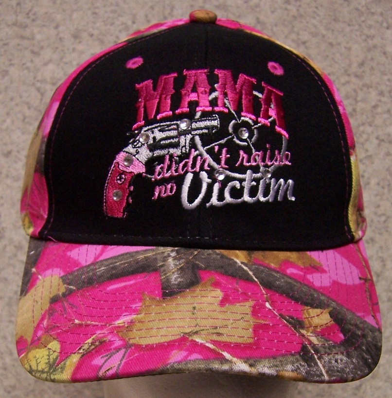 Mama Didn't Raise No Victim Second Amendment Adjustable Size Baseball Cap thumbnail