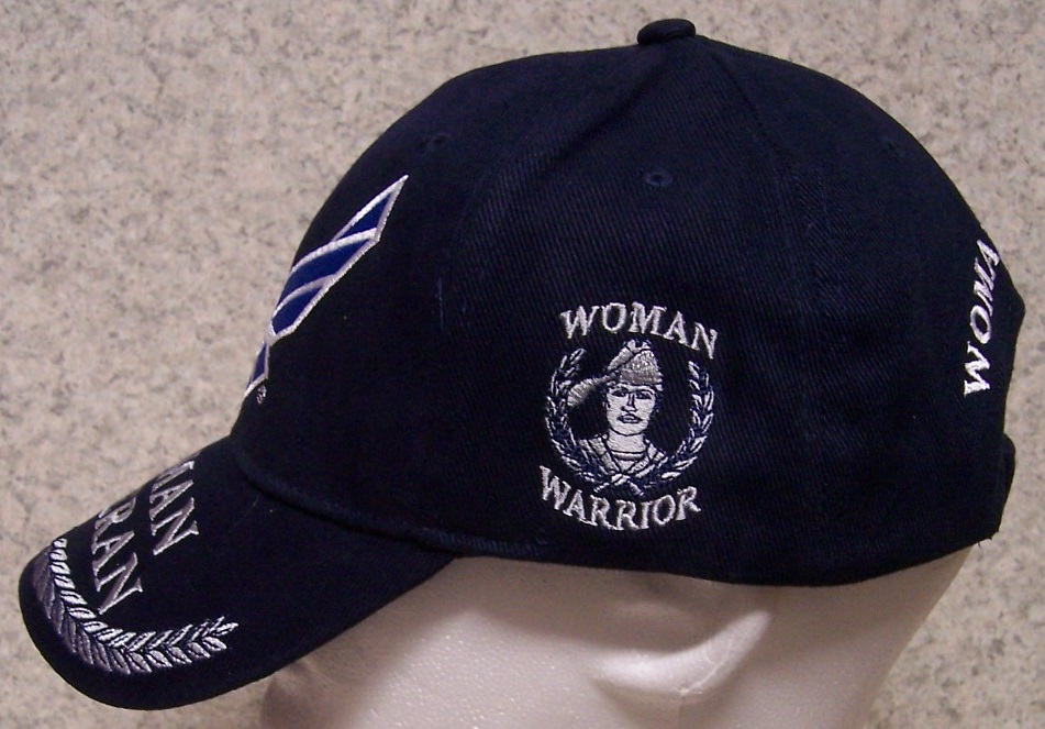 Hat Stand Designs : Air force woman veteran military embroidered baseball cap
