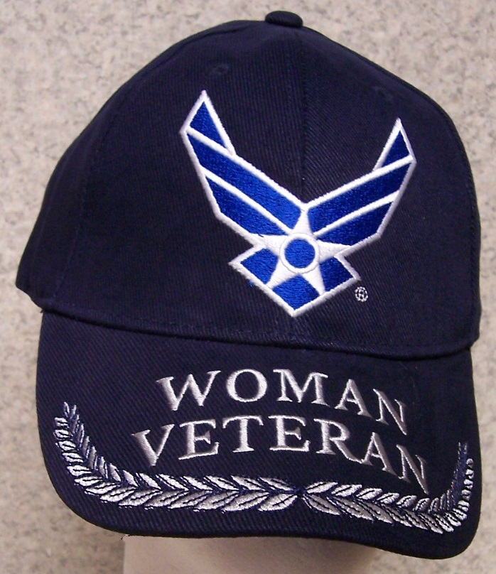 Woman Veteran Air Force Adjustable Size Military Baseball Cap thumbnail