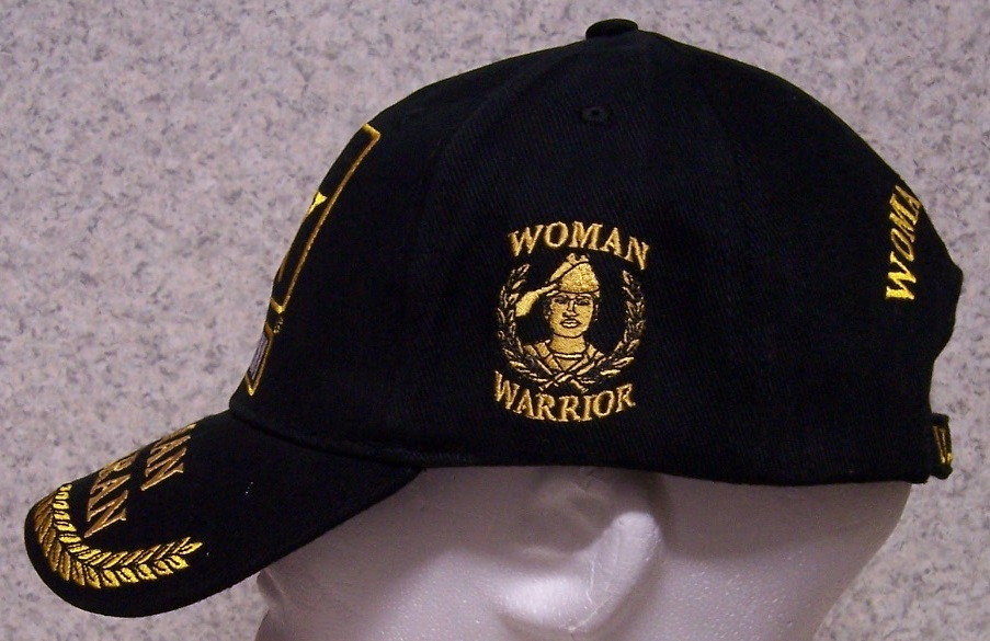 Army Woman Veteran Military Embroidered Baseball Cap From
