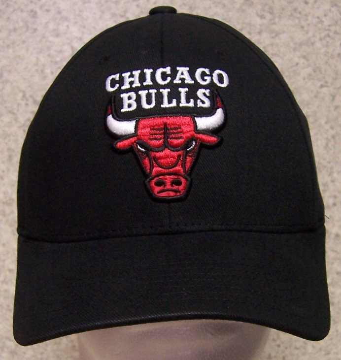 embroidered baseball cap sports nba chicago bulls new