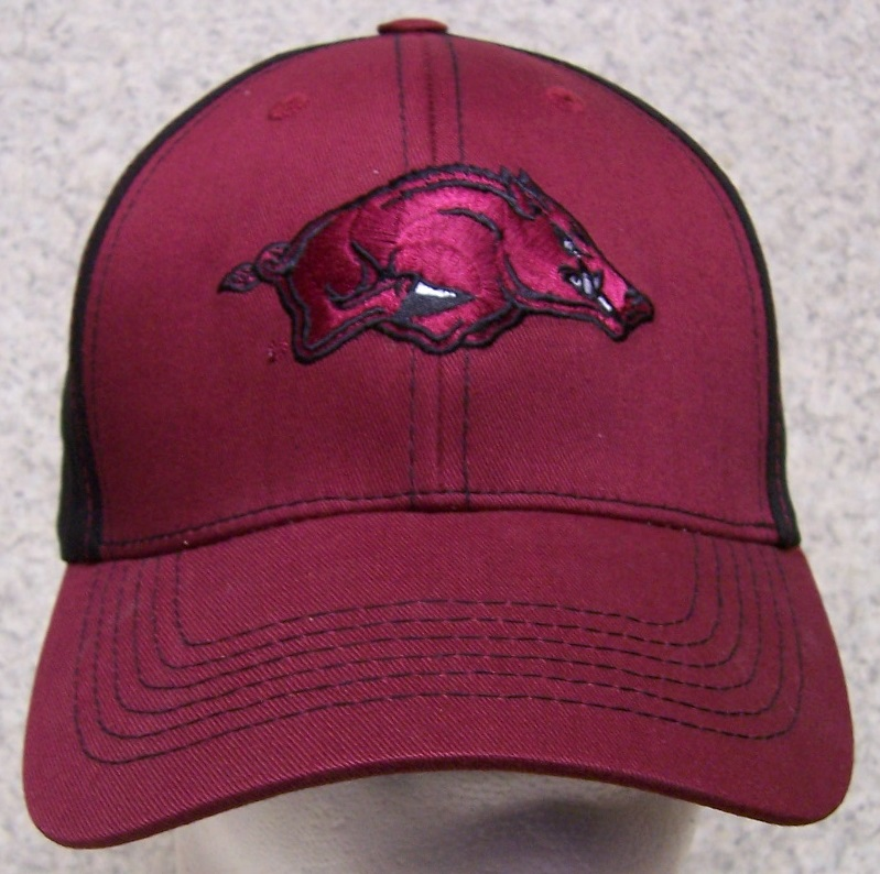 Arkansas Razorbacks NCAA Adjustable Size National Collegiate Athletic Association Baseball Cap thumbnail