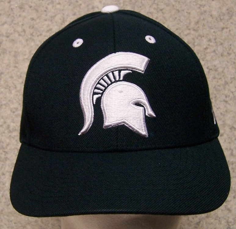 embroidered baseball cap ncaa michigan state spartans new