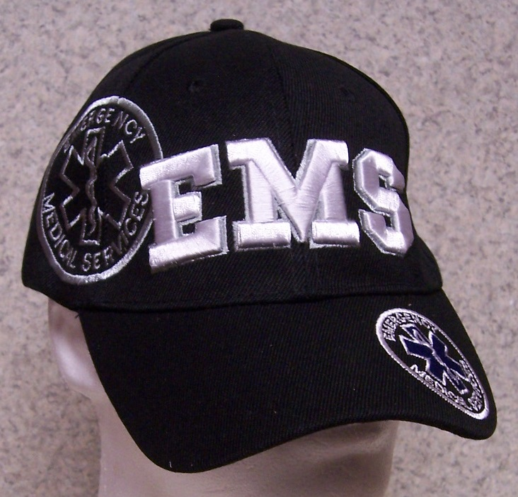 Emergency Medical Services Adjustable Size Fire and Rescue Baseball Cap thumbnail