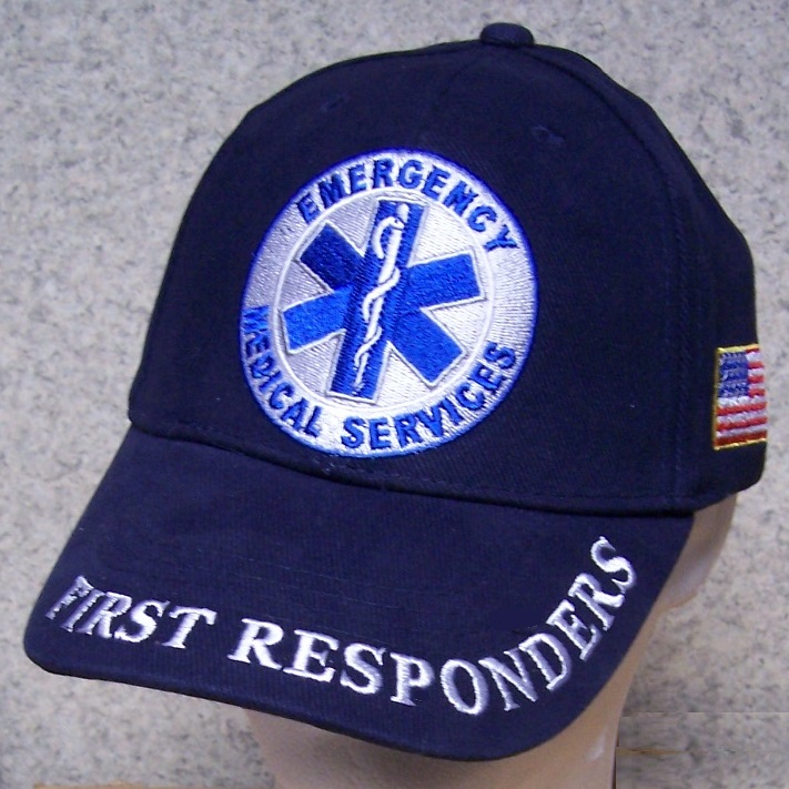 Emergency Medical Services First Responders Adjustable Size Fire and Rescue Baseball Cap thumbnail