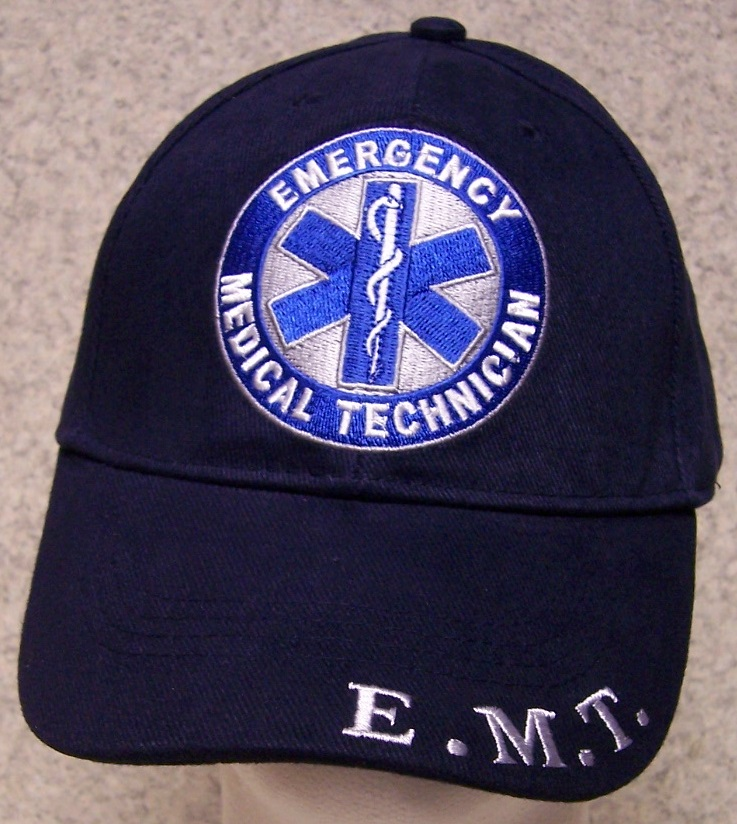 Emergency Medical Technician Adjustable Size Fire and Rescue Baseball Cap thumbnail