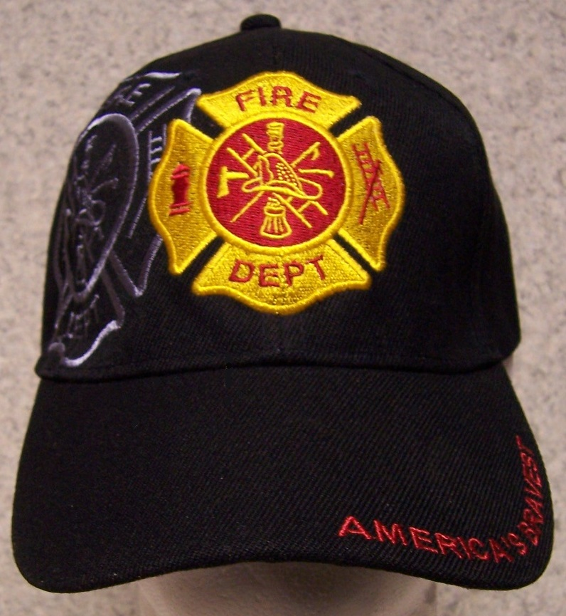 America's Bravest Adjustable Size Fire and Rescue Baseball Cap thumbnail