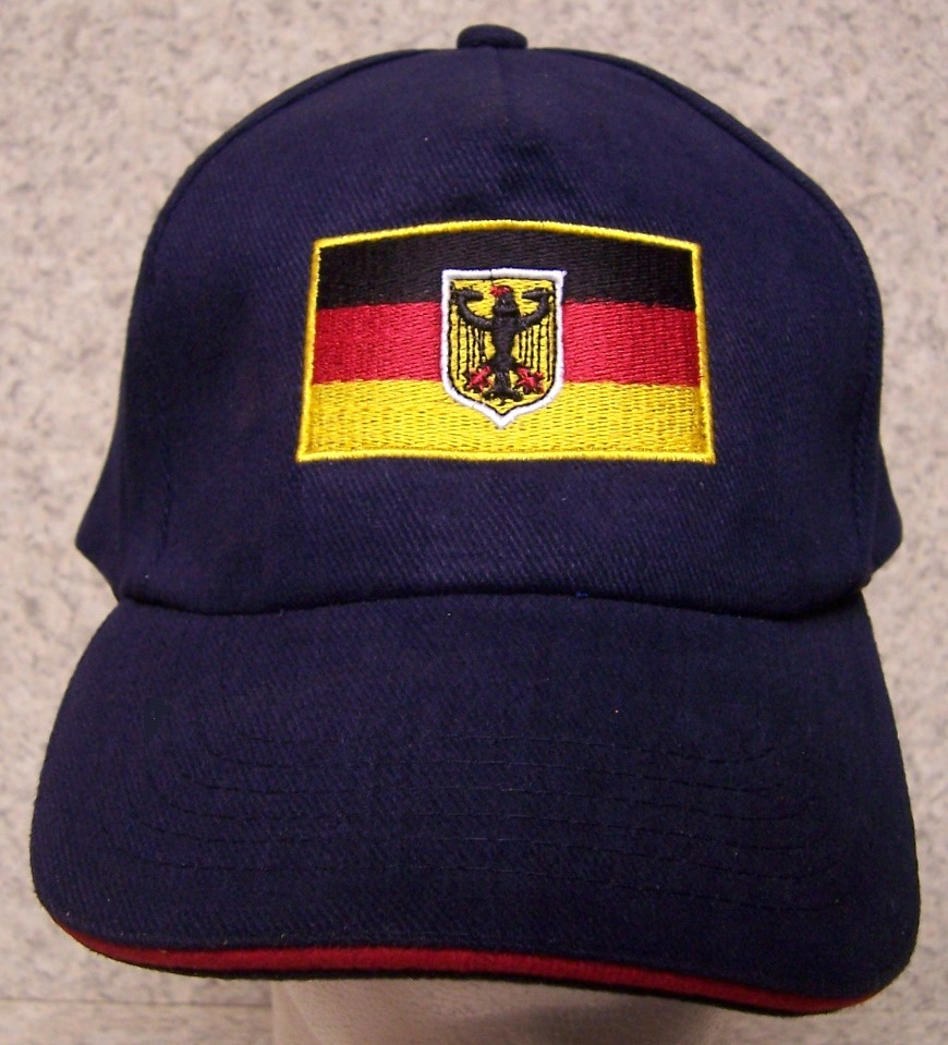 German Flag Adjustable Size International Flag Baseball Cap thumbnail