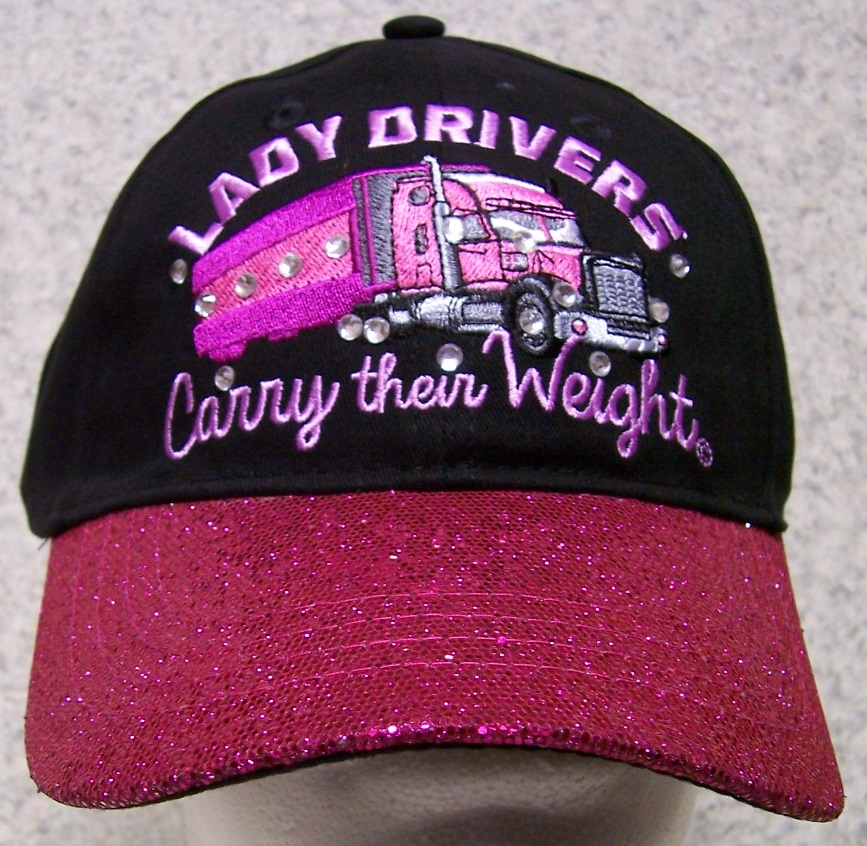 Lady Drivers carry their weight Adjustable Size Trucker Baseball Cap thumbnail