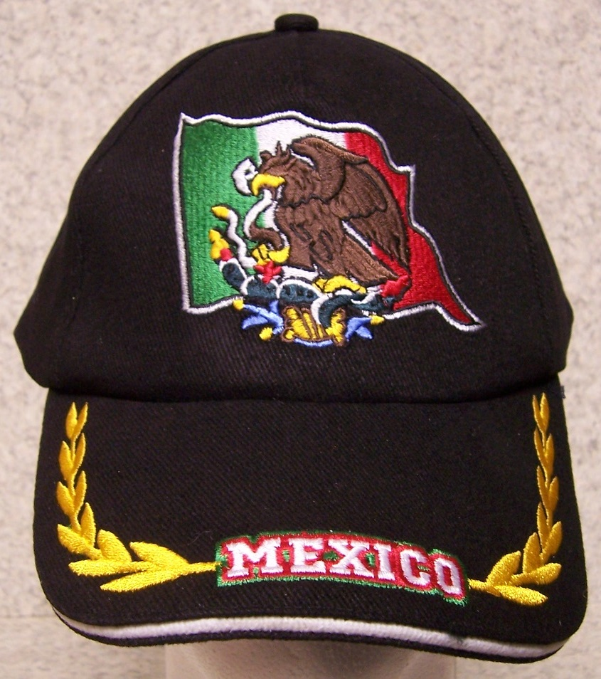Embroidered baseball cap international mexico new hat