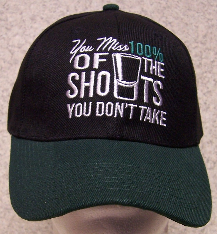 You Miss 100 percent of the Shots you don't take Novelty Adjustable Size Baseball Cap thumbnail