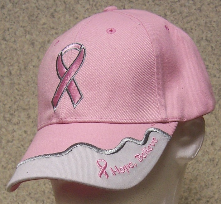 Pink Ribbon Race for the Cure Novelty Adjustable Size Baseball Cap thumbnail