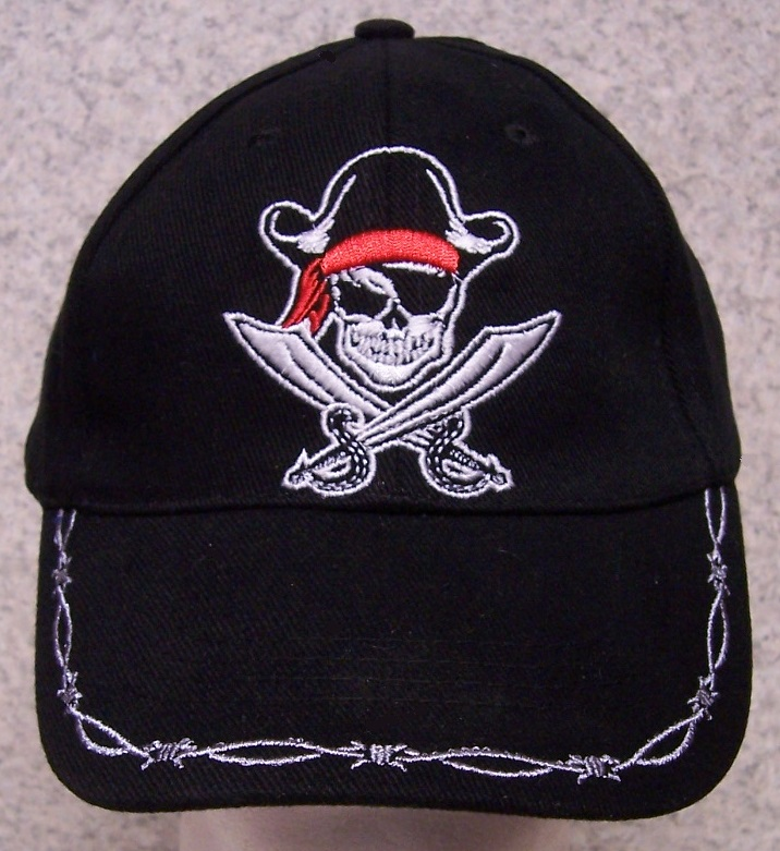 Pirate Crossed Swords Novelty Adjustable Size Baseball Cap thumbnail
