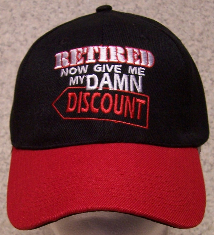 Retired now give me my damn discount Novelty Adjustable Size Baseball Cap thumbnail