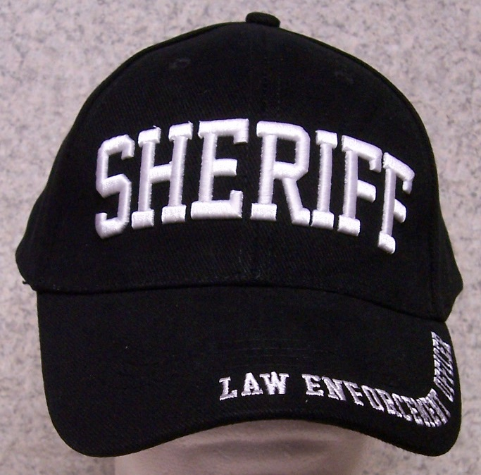Sheriff Adjustable Size Law Enforcement Baseball Cap thumbnail