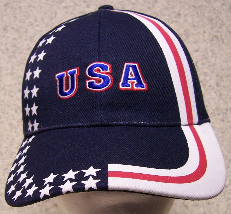 USA Pride Patriotic Adjustable Size Baseball Cap thumbnail