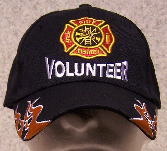 Volunteer Fire Department Adjustable Size Fire and Rescue Baseball Cap thumbnail