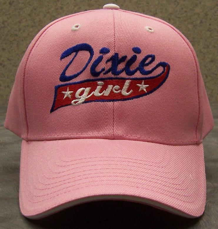 Dixie Girl Confederate States Adjustable Size Baseball Cap thumbnail