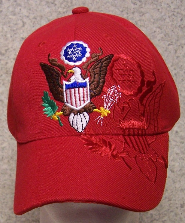 Great Seal of the USA Patriotic Adjustable Size Baseball Cap thumbnail