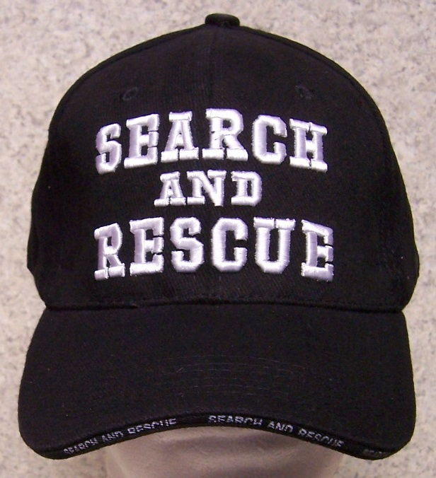 Search and Rescue Adjustable Size Fire and Rescue Baseball Cap thumbnail