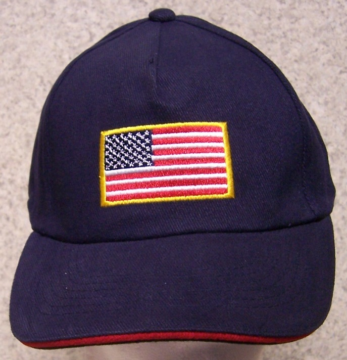 U S Flag Patriotic Adjustable Size Baseball Cap thumbnail