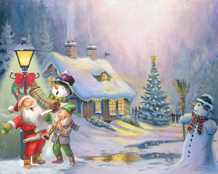 500 piece seasonal jigsaw puzzle Home for Christmas manufacturered by Eurographics