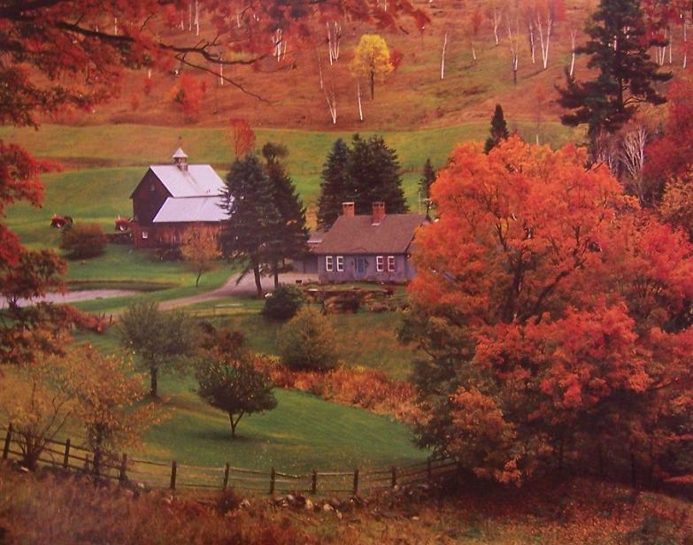 Jigsaw puzzle Landscape Autumn Farm Vermont 1000 piece NIB ...