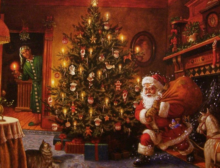 550 piece seasonal jigsaw puzzle Santa Makes a Delivery