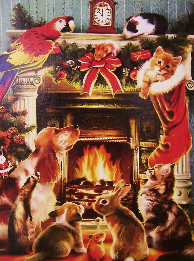 550 piece seasonal jigsaw puzzle The Christmas Fireplace by Howard Robinson